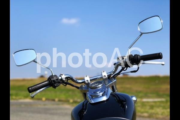 バイクでお出掛けの写真
