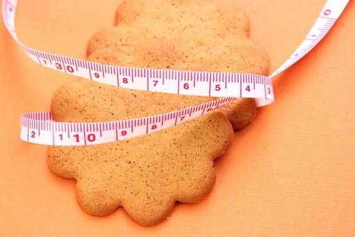 メジャー 巻尺 巻き尺 測る 身体測定 測定 オレンジ オレンジバック ウエスト ダイエット 肥満 メタボリック ビューティー  お菓子 おかし ビスケット クッキー 太る
