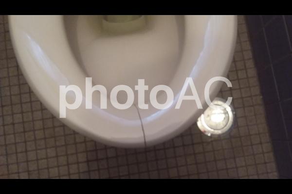 トイレ 便器 割れの写真