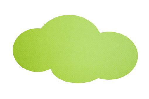 パーツ 模様 かわいい ポイント イベント 切り抜き 白バック 白背景 手作り デザイン アイデア 材料 素材 アート コラージュ 布 布素材 ファブリック ナチュラル 吹出し ふきだし 雲 くも クモ 緑 黄緑