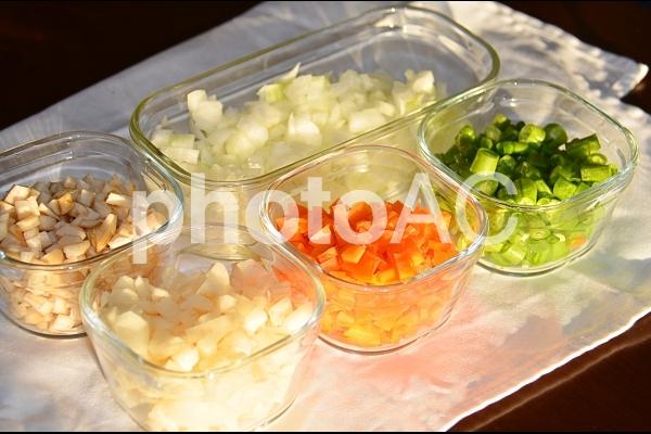 野菜のみじん切りの写真