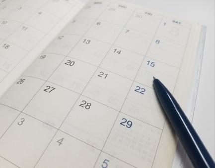 スケジュールカレンダーの写真