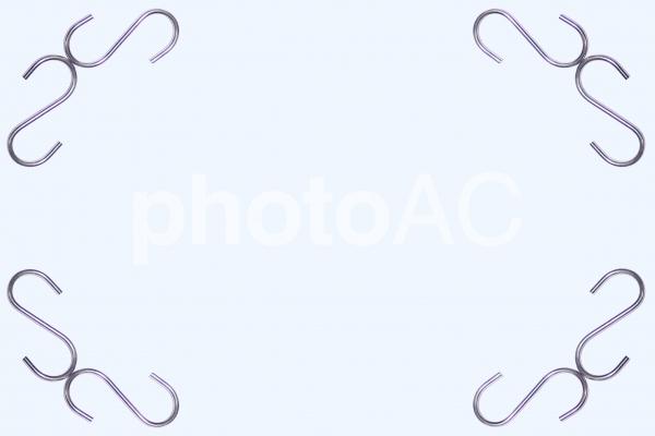 S字フックの写真