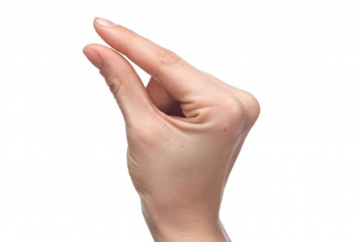 手 右手 手指 人差し指 親指 手首 ハンド 肌 皮膚 スキン 持つ つまむ つかむ はさむ 握る 押さえる 捻る 手話 つまみ 指先 僅か 極小 一寸 ハンドポーズ ポーズ ハンドパーツ パーツ 白バック 白背景