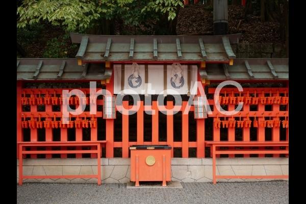 京都 伏見稲荷大社 本殿裏の写真
