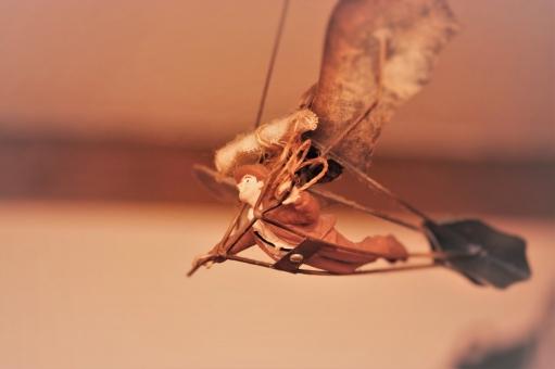 フライト 飛び立つ 空 大空 飛行 旅 冒険 ロマン 翼 羽 飛行機 パラグライダー スカイダイビング 鳥人間 スカイスポーツ ハンググライダー 風 インテリア オブジェ 旅立ち 旅 出発 スタート