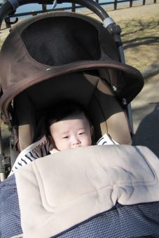 赤ちゃん 散歩の写真