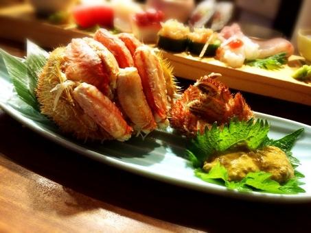 カニ かに 蟹 毛ガニ タラバガニ 甲羅 甲羅詰め 日本酒 和食 居酒屋 蟹味噌 かにみそ ミソ 割烹 高級食材 日本料理 さしみ 刺身 しそ 鮨 すし 寿司 毛