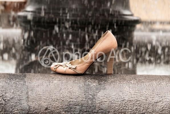 靴と風景14の写真