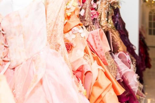 ドレス 結婚式 ウェディングドレス 衣装 ウェディング ブライダル パーティー レース レンタル 華やか ピンク 二次会 花柄 披露宴 女性 花嫁 お色直し マリッジ スカート 服
