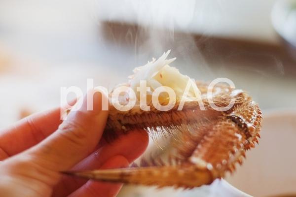 毛ガニの足の写真