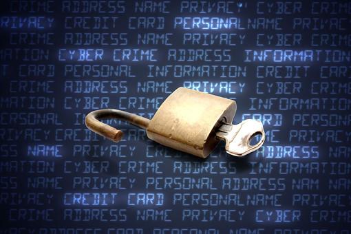 PC パソコン コンピュータ アップ セキュリティ 安全対策 防止 漏えい 流出 プライバシー 個人情報 アクセス 不正アクセス ウイルス ネット犯罪 インターネット データ 保護 守る フィッシング ハッカー ハッキング 鍵 南京錠 錠前 画面 文字 プログラム 合成