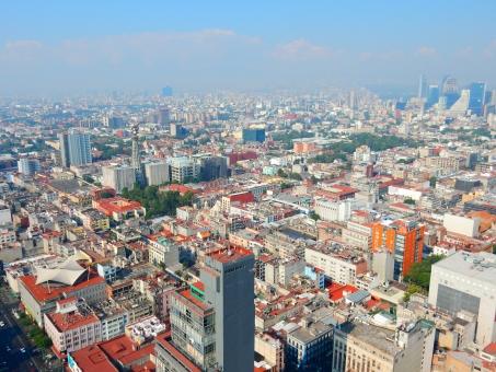 町並み ビル 都会 青空 メキシコ 高層 シティ