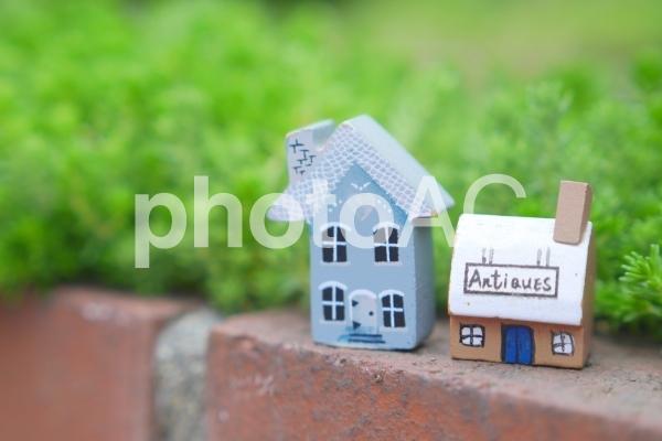 緑の中の家の写真