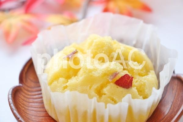 さつまいもの蒸しケーキの写真