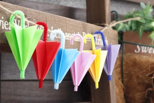 かわいい傘の写真