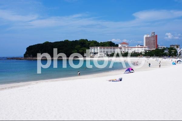 白良浜 海水浴場の写真
