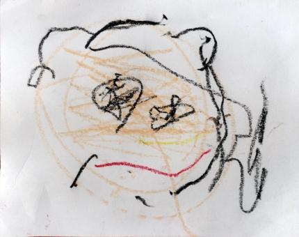 母の日 似顔絵 幼稚園 ママ お母さん Mother's Day 子供 展覧会 3歳 子ども こども 子どもの絵 子供の絵 イラスト クレヨン