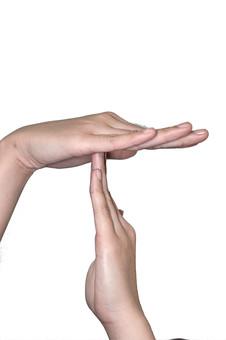 人物 背景 白 白背景 白バック 切り抜き パーツ ボディパーツ 腕 両手 ポイント 指 手首 ジェスチャー 身ぶり 肌 余白  シンプル ハンドパーツ 右手 手ぶり 人の手 T タイム ストップ 休憩
