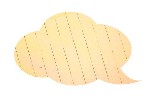 パーツ 模様 かわいい ポイント イベント 切り抜き 白バック 白背景 手作り デザイン アイデア 材料 素材 アート コラージュ 布 布素材 ファブリック ナチュラル 吹出し ふきだし 黄 黄色 ストライプ 柄
