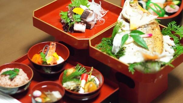 祝い膳 お食い初め 還暦 和食 日本食 鯛 蛸 歯固め