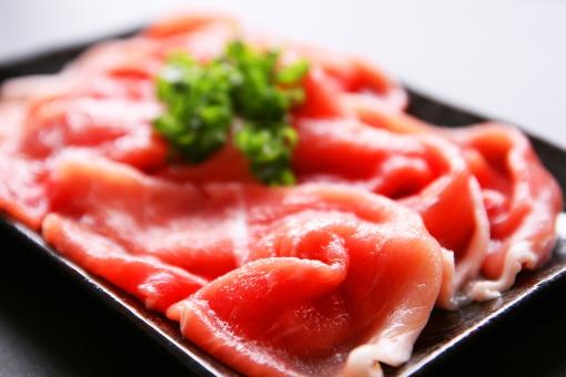 肉 生肉 黒豚 ネギ ねぎ 素材 材料 調理前 しゃぶしゃぶ