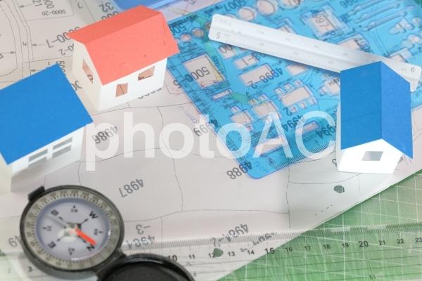 家の模型住まいのイメージ土地取得の写真