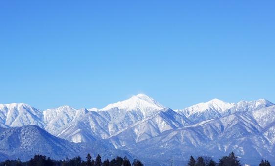 北アルプス アルプス 冬 雪山 冬の山 常念 常念岳 穂高 冬空 雪