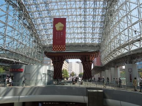 金沢 金沢駅 世界で最も美しい駅 北陸新幹線 太鼓 オブジェ 観光名所 鼓門 もてなしドーム 駅 新幹線