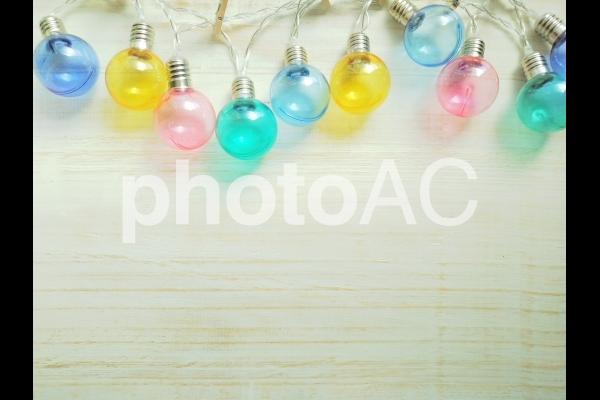 電球 ガーランドフレーム の写真