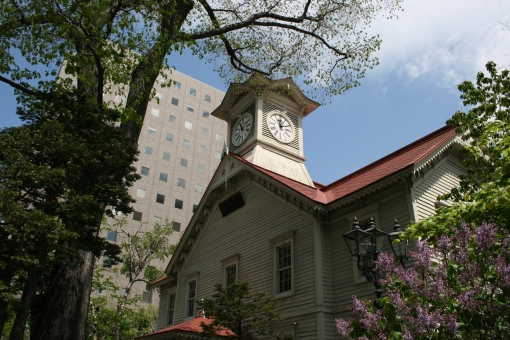 時計台 札幌 北海道 時計 初夏