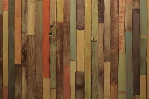 カラフルな木目背景-ベージュの写真