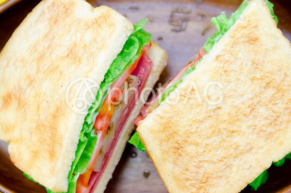 サンドウィッチの食品サンプルの写真