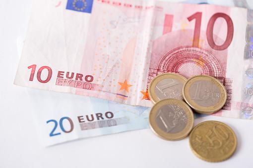 お金 マネー 紙幣 貨幣 通貨  外貨 コイン 小銭 外国 海外  ユーロ ヨーロッパ 金融 経済 ビジネス  価値  報酬 収入 貯金 貯蓄  両替 アップ 素材 白バック 白背景 現金 20ユーロ札 10ユーロ札 10ユーロ紙幣 20ユーロ紙幣 硬貨 EU ユーロコイン ユーロ