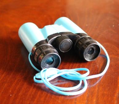 双眼鏡 景色 ブルー コンパクトサイズ 小型