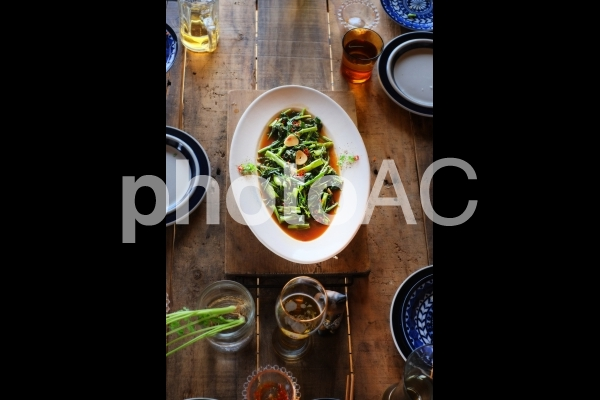 空芯菜のオイスターソースの写真