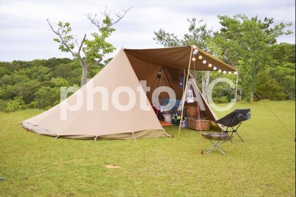 キャンプ場の風景の写真