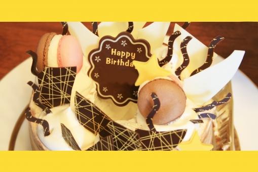 誕生日 お誕生日 birthday バースディ 誕生日ケーキ バースディケーキ お祝い メッセージ メッセージカード birthdaycard 誕生日カード ケーキ チョコレートケーキ マカロン スィーツ ポストカード  postcard 星形 ホールケーキ デコレーションケーキ 甘い happy ハッピー 誕生日パーティー