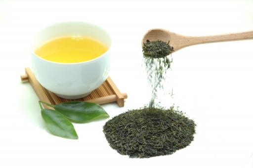 緑茶 茶 お茶 新茶 日本茶 湯気 茶葉 和 日本 リラックス 白背景 白バック グリーンティー カテキン