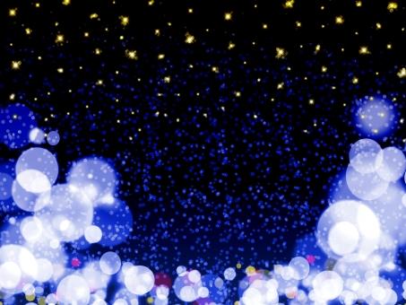 星 ひかり 光 輝く 夜空 星空 雪 スター イルミネーション ライト ライトアップ 雪景色 冬 ふんわり 青 バレンタイン 金色 黄色 ゴールド まる 街並み 水玉 きらきら キラキラ 壁紙 浮かぶ 大きい 小さい 背景 テクスチャ