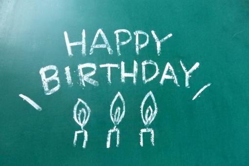 ハッピー 文字 黒板 黒板文字 happy birthday ろうそく メッセージ ハピバ ハッピーバースデー