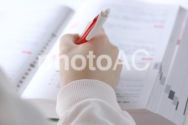 勉強する人 2の写真