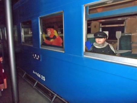 昭和 戦後 レトロ 列車 汽車 客車 電車 交通 青森 人形 復元 展示物 歴史 文化 昭和 戦後 乗り物