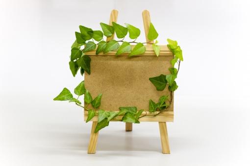 植物 自然 ボード 板 看板 ツル アイビー ツタ 蔦 イーゼル 写真立て フレーム 枠 額 小物 エコ