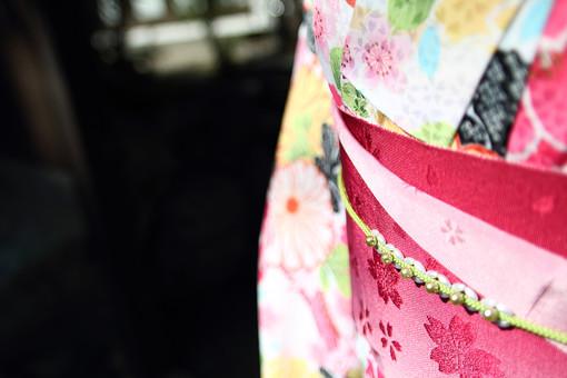 女性 着物 晴れ着 振袖 和服 和装 正装 人物 美しい 日本人 赤色 カラフル 和 柄 模様 伝統 鮮やか 文化 正月 和風 衣装 コスチューム 元旦 帯 初詣 帯締め 帯留め 結納