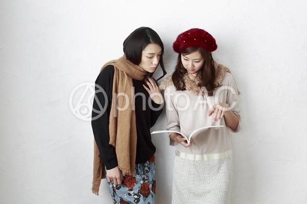 女友達 冬のファッション19の写真