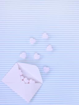 背景 バレンタイン バレンタインデー コピースペース ハート 手紙 レター 封筒 love ラブ ラブレター メッセージ 告白 恋愛 愛 恋 ピンク