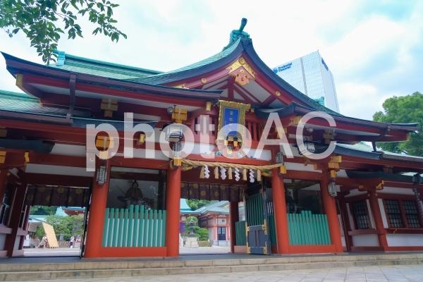 東京 日枝神社 神門の写真