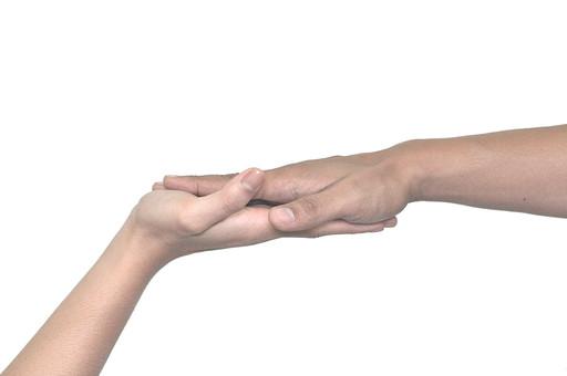 人物 背景 白 白背景 白バック 切り抜き パーツ ボディパーツ 腕 ポイント 指 手首 ジェスチャー 身ぶり 肌 余白  シンプル ハンドパーツ 右手 二つの手 コミュニケーション タッチ ぴったり パー 幸せ