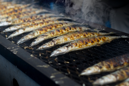 サンマ さんま 秋刀魚 秋の味覚 秋 鮮魚 さかな サカナ 魚 焼き魚 焼きざかな 秋刀魚の塩焼き サンマの塩焼き さんまの塩焼き グリル 炭火 炭焼き